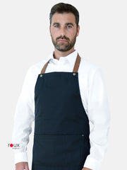 bib apron leather strap