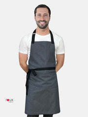 denim bib apron cafe barista