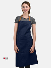 denim apron blue