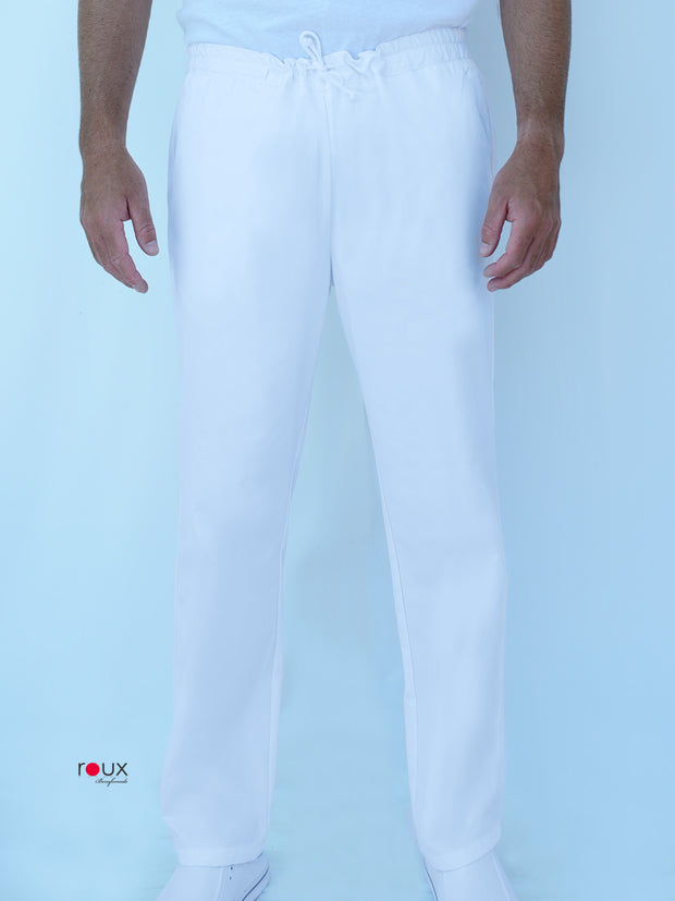 White Unisex Trousers