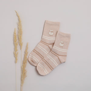 Organic Cotton Light Brown - Kids Socks