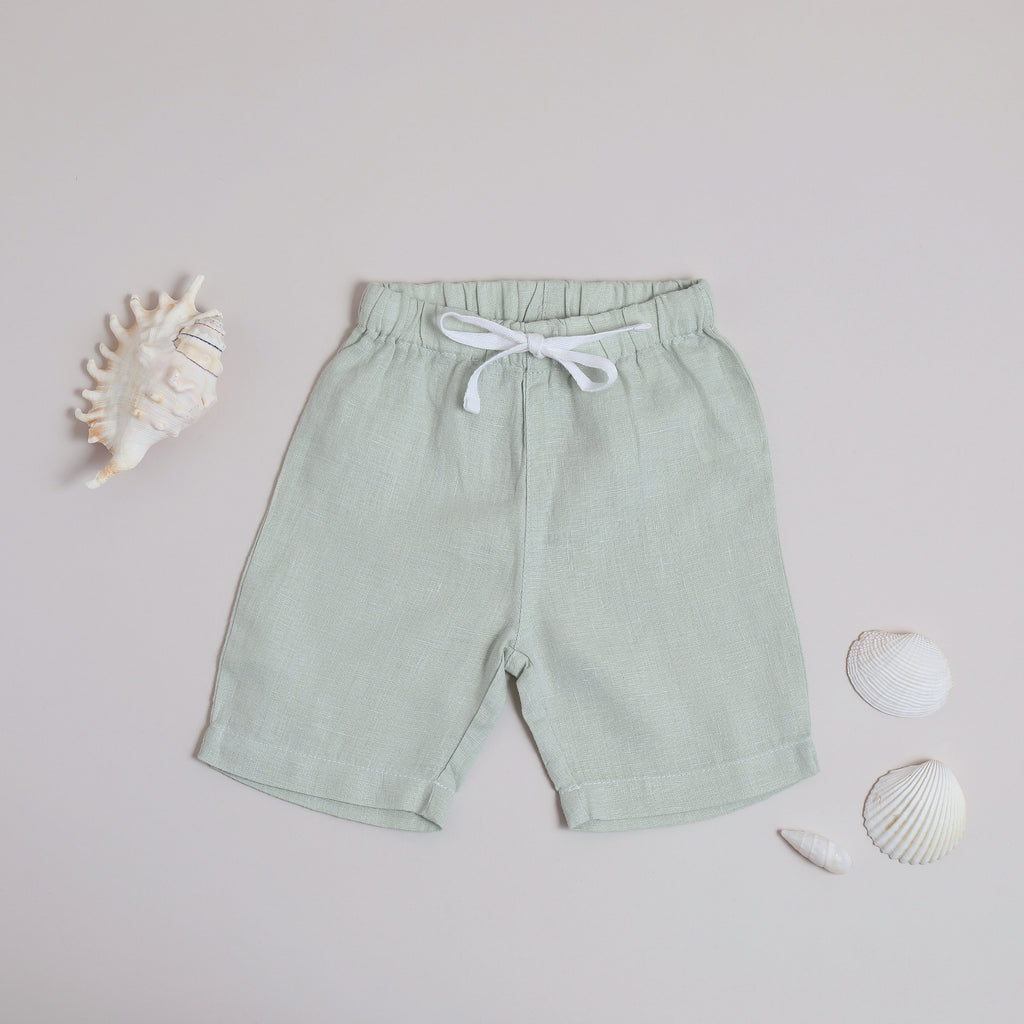 Pure linen Baby Sea Foam Short-Shell Collection