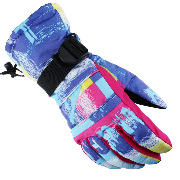 Winter ski gloves adult windproof and waterproof