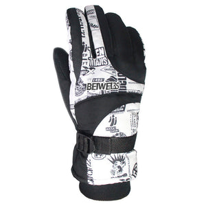 Winter ski gloves
