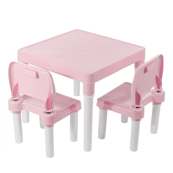 Children Folding Gaming, Learning, Meal, Table with Chairs Plastic