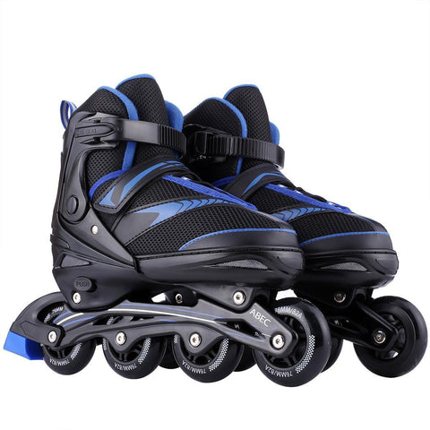 Adults Single Row InLine Hockey Roller Skates (L and XL)