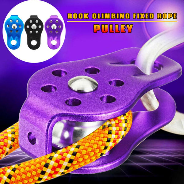 Rock Climbing Fixed Sideplate Single Sheave Pulley