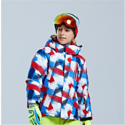Children's Thickened Boy's Girl's Outdoor Warm and Cold-proof Ski jacket and Ski pants each