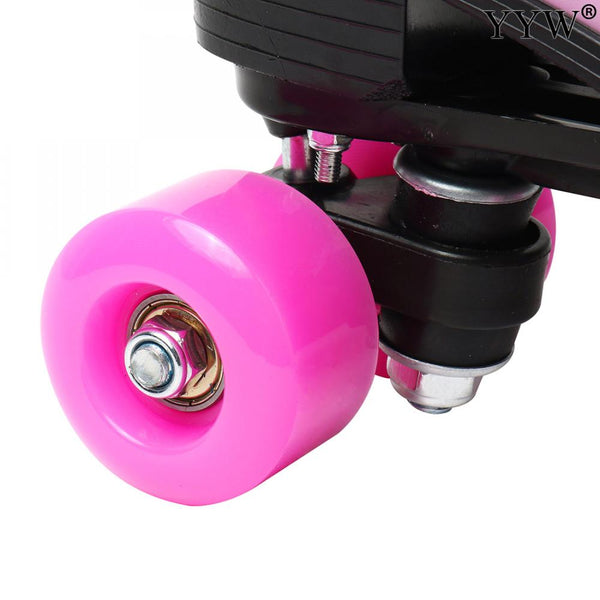 Microfiber Leather 4 Wheel Outdoor Roller Skates