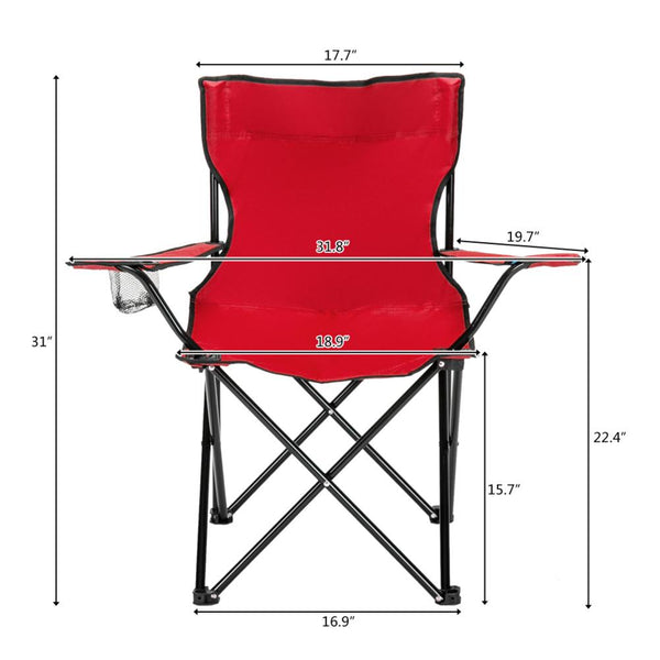Portable Lightweight Foldable Camping Chair 80x50x50
