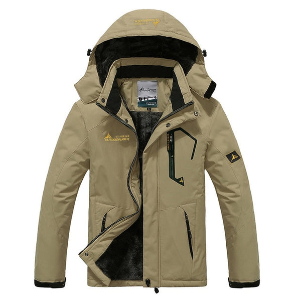 Women Plus Men Plus Trekking Waterproof Warm Fleece Snow Thermal Outdoor Mountain Coat