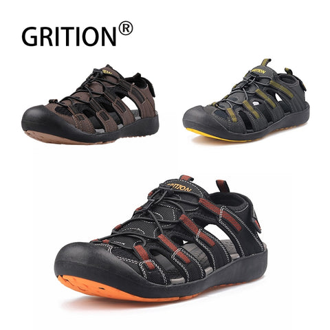 Mens Hiking Trekking Flat Leather Breathable Non Slip Shoes Size 40-46