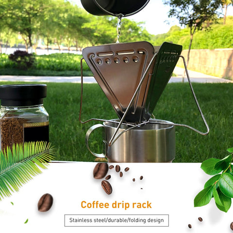 1 PC Stainless Steel Camping Folding Portable Coffee Filter