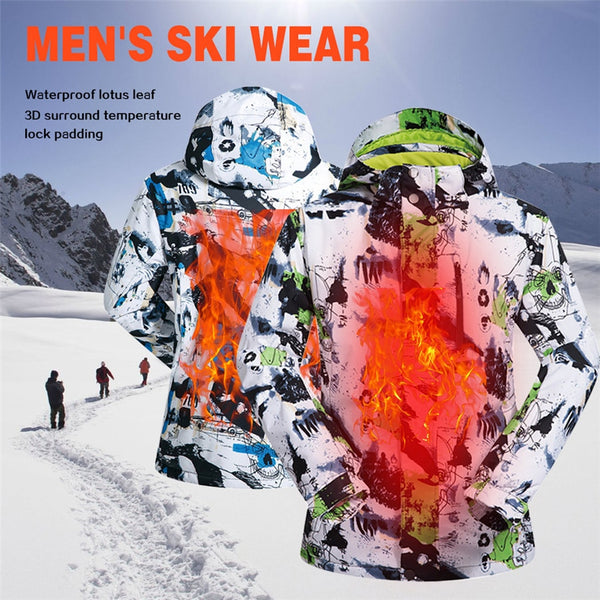 Warm windproof, moisture-proof moisture wicking men's Extra warmth ski coat