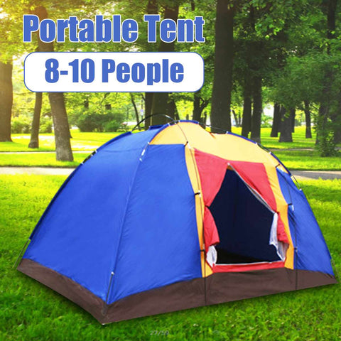 6-8 Person Portable Waterproof, Windproof, Anti-UV, Large, Foldable, Family Tent