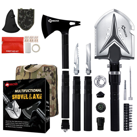 Multifunctional Camping Shovel Axe Emergency Backpacking Outdoor Survival Gear