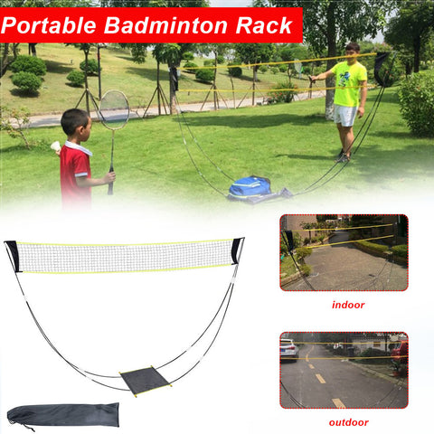 Sport Training Standard Indoor or Outdoor Foldable Badminton Net with poles