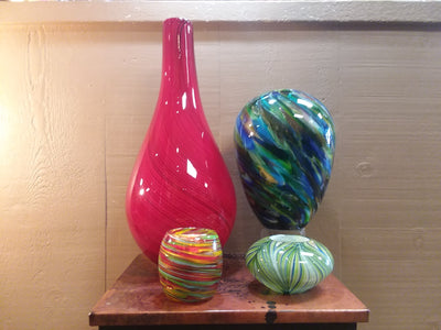 Brand: Dynasty Glass / Style: Various Hand Blown Glass Decor  Color: Multi