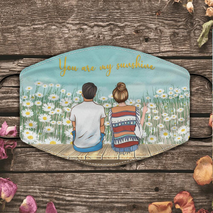 Just A Romantic Love Daisy Garden personalized cloth face mask