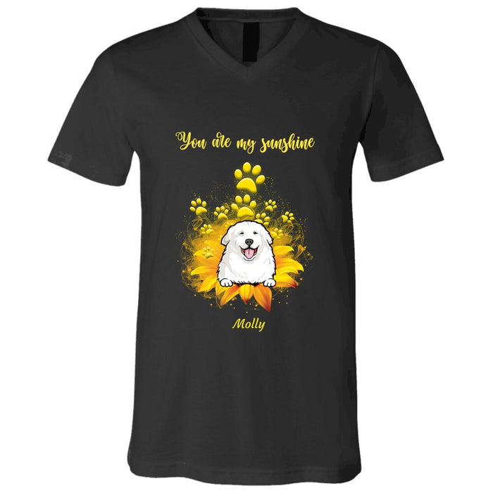 """You're My Sunshine"" dog personalized T-Shirt"