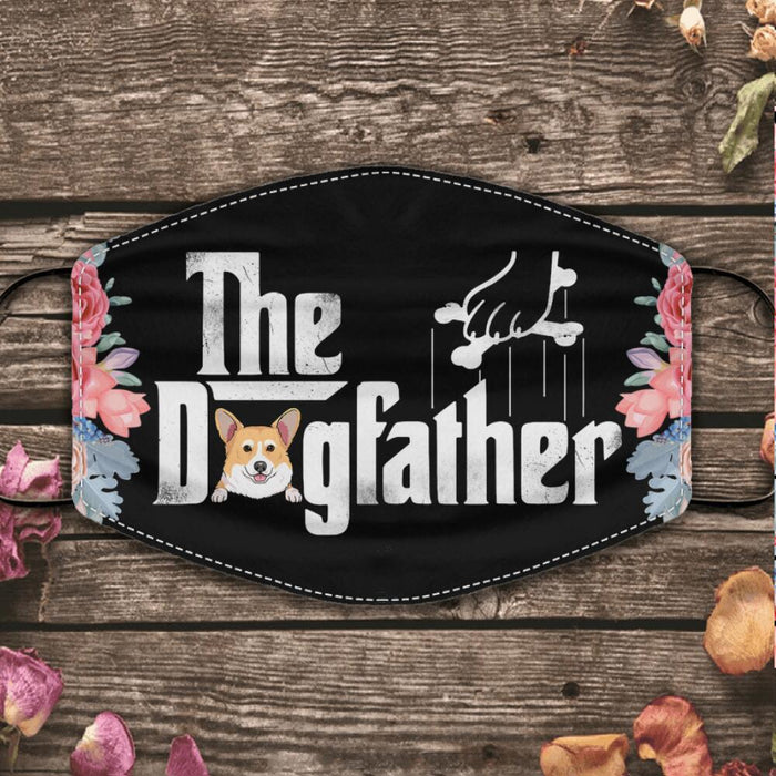 """The Dog/CatFather "" personalized cloth face mask"