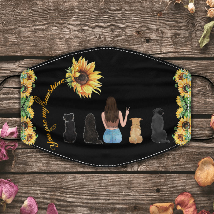 Sunflower and Pets personalized cloth face mask. MAS75