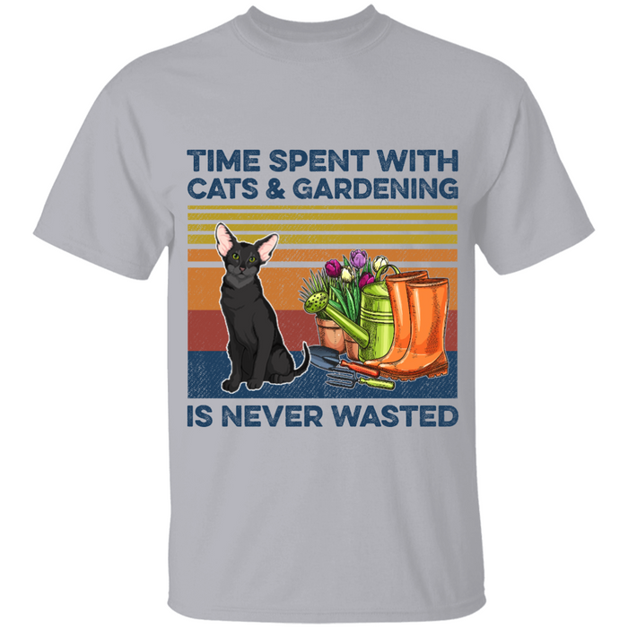 Time Spent With Cats & Gardening is Never Wasted personalized Shirt. TS226