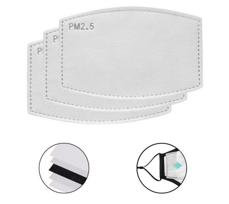 Pack-20 PM2.5 Carbon Filter for Cloth Face Mask