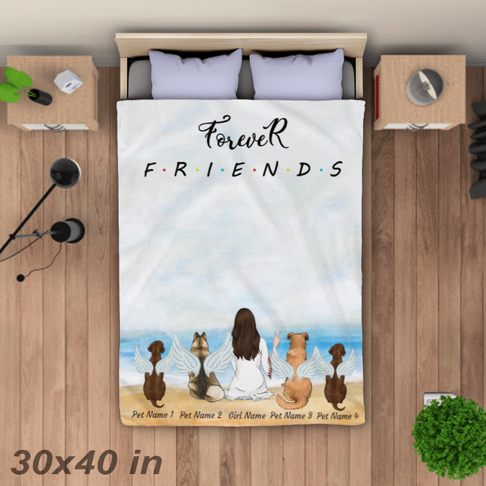Forever Friends On The Beach. Personalized Blanket. BLK06