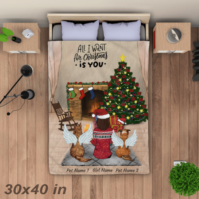 All I Want For Christmas is You. Personalized Blanket. BLK22