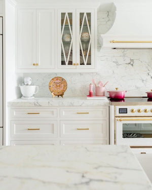 How to style a white and gold range cooker