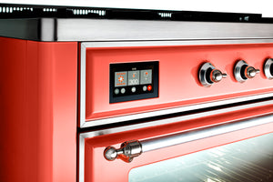 Image of a Coral colour matched Majestic Range Cooker