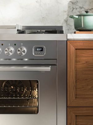 ILVE range cooker in stainless steel