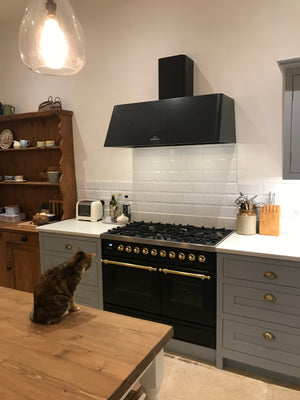 100cm 6 Burner Milano Range Cooker in Matt Graphite with Brass