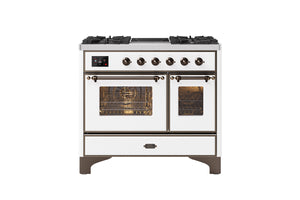 NEW: 100cm Majestic Milano 2 Zone Induction with 4 Gas Burners Double Oven Dual Fuel Range Cooker