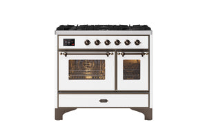 NEW: 100cm Majestic Milano 6 Burner Double Oven Dual Fuel Range Cooker