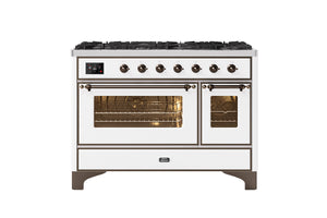NEW: 120cm Majestic Milano 8 Gas Burners Double Oven Dual Fuel Range Cooker