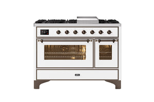 NEW: 120cm Majestic Milano Fry Top Double Oven Dual Fuel Range Cooker