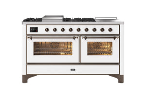 NEW: 150cm Majestic Milano Fry Top with Coup De Feu Double Oven Dual Fuel Range Cooker