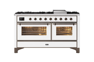 NEW: 150cm Majestic Milano Fry Top Double Oven Dual Fuel Range Cooker