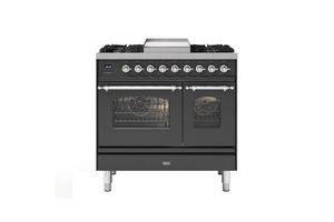 NEW: 90cm Milano Fry Top Double Oven Dual Fuel Range Cooker