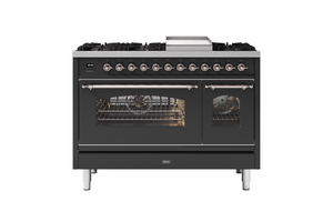 NEW: 120cm Milano Fry Top Double Oven Dual Fuel Range Cooker