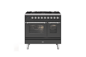 NEW: 90cm Milano 6 Burner Double Oven Dual Fuel Range Cooker