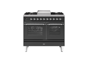 NEW: 100cm Milano Fry Top Double Oven Dual Fuel Range Cooker