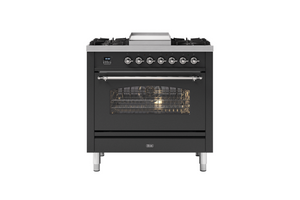 NEW: 90cm Milano Fry Top Single Oven Dual Fuel Range Cooker