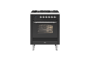 NEW: 70cm Milano 4 Burner Single Oven Dual Fuel Range Cooker