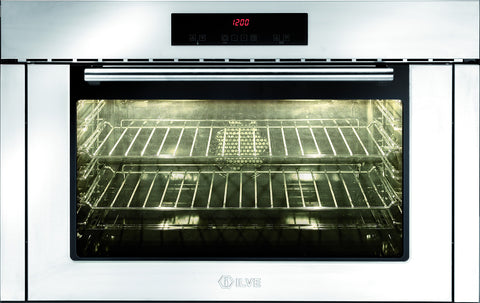 ILVE 90cm Slim Touch Control Single Built-In Oven Stainless Steel