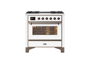 NEW: 90cm Majestic Milano 2 Zone Induction Dual Fuel Range Cooker