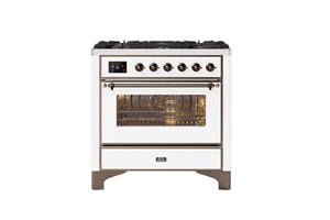 NEW: 90cm Majestic Milano 6 Burner Single Oven Dual Fuel Range Cooker
