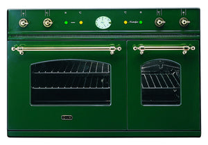 90cm Milano Twin Built-In Oven Green